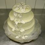 Hochzeitstorte, auf Kundenwunsch ohne Deko gefertigt