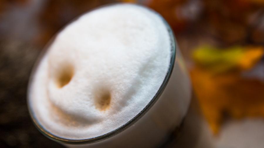 Mit einem Lächeln genießen: Latte Macchiato (zum Vergrößern aufs Bild klicken)
